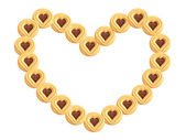 Heart biscuits — Stock Photo