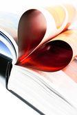 Book heart — Stock Photo