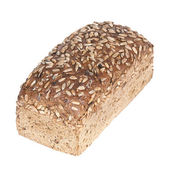 Fresh wholewheat bread with sunflower seeds — Stock Photo