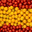 Spanish flag formed of cherry tomatoes — Stock Photo
