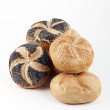 Assortment of fresh Kaiser rolls — Stock Photo
