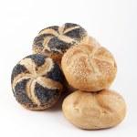 Assortment of fresh Kaiser rolls — Stock Photo