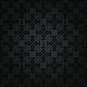 Seamless black small floral elements wallpaper pattern — Stock Vector