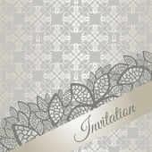 Silver special occasion invitation card — Stock Vector
