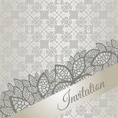 Silver special occasion invitation card — Stock Vector