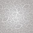 Seamless vintage silver lace leaves wallpaper pattern — Stok Vektör