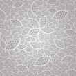 Seamless vintage silver lace leaves wallpaper pattern — Stock Vector