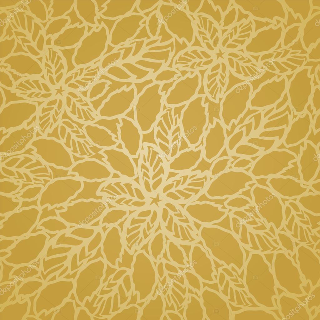 Bed sheet patterns texture - Sem Costura Dourado Folhas E Flores Padr 227 O De Papel De Parede De