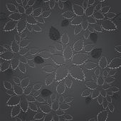 Seamless black leaves lace wallpaper pattern — Stock Vector