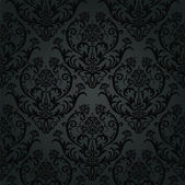 Luxury black charcoal floral wallpaper pattern — Vecteur