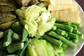 Meal with mixed vegetables — Stock Photo