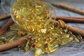 Cod liver oil omega 3 — Stock Photo