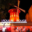 Stock Photo: Moulin Rouge , Paris , France