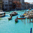 Venice 's Grand Canal with Blue sky , Italy — Foto Stock