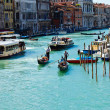 Venice 's Grand Canal with Blue sky at Venice in Italy — Foto Stock