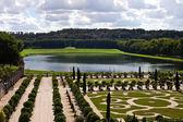 Decorative gardens , Versailles Castle , France — Stock Photo