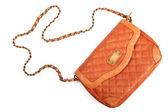 Leather women handbag isolated on white background — Stock Photo
