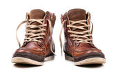 Brown leather boots — Stock Photo