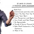 Ten ways to create a positive work environment — ストック写真