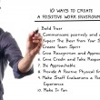 Ten ways to create a positive work environment — 图库照片