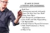 Ten ways to create a positive work environment — Stock Photo