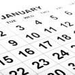 Blank white calendar with black numbers — Stock Photo