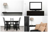 Bright interior - minimalism style — Stock Photo