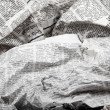 Background of old crumpled newspapers — Stock Photo