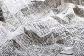 Fondo de la vieja arrugada periódico — Foto de Stock