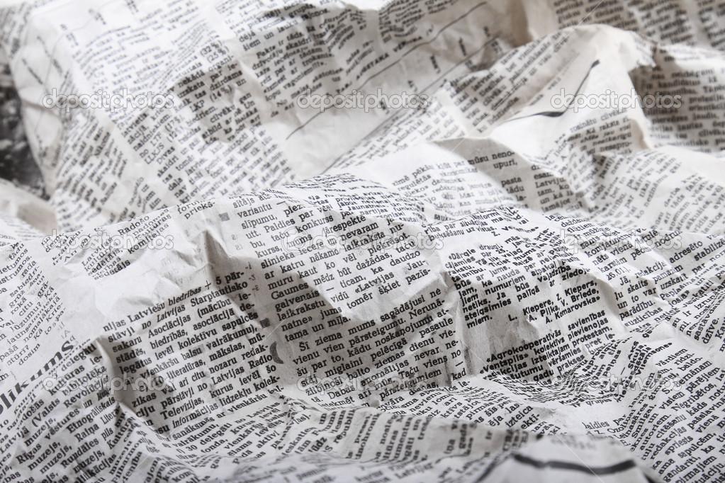 Fondo De La Vieja Arrugada Periódico