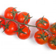 Bunch of cherry tomatoes isolated on white — Zdjęcie stockowe