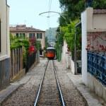 Wood train of Puerto de Soller in Mallorca — Stock Photo