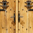 Close up image of ancient wooden door — Foto Stock