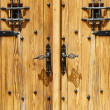 Close up image of ancient wooden door — Foto de Stock