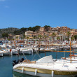 Puerto de Soller Port of Mallorca with boats in balearic island — Stock Photo #26239421