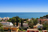 Colorful overview of Palma Nova in Mallorca — Stock Photo