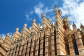 Detail of Mallorca cathedral in Palma, Spain — Stock Photo