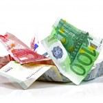 Crumpled euro money — Stock Photo