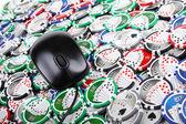 Online casino poker concept — Stock Photo