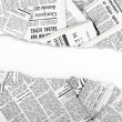 Stock Photo: Old ripped newspapers