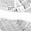 Old ripped newspapers — Stock Photo #38904715