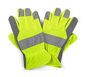 Protective work gloves isolated on white — Stock Photo