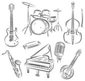 Conjunto de la banda de jazz — Vector de stock