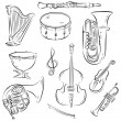 Symphony Orchestra Set — Stock Vector