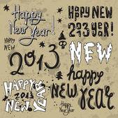 Mutlu yeni yıl 2013 grunge metin — Stok Vektör