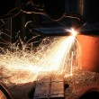 Sparks from are sharp metal - Foto Stock