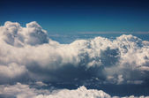 View of fluffy clouds from height — Stock Photo