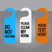 Set of hotels door hanger tags. — Stock Vector