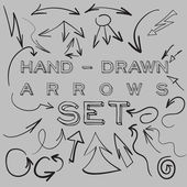 Hand-drawn arrows set — Stock Vector