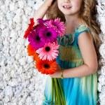 Portrait little lovely girl in a pink dress — Stock Photo #13217178